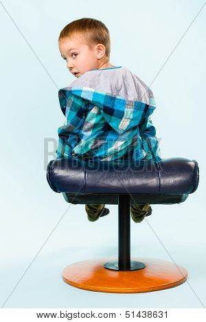 Little Boy And Footstool