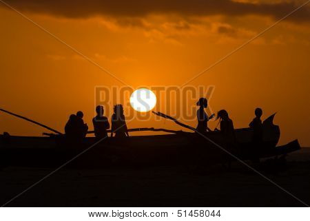 Sunset On Malagasy Dugout