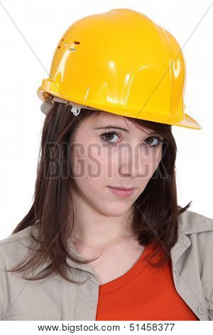 Portrait of a young tradeswoman
