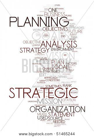 An image of a nice strategy text cloud poster
