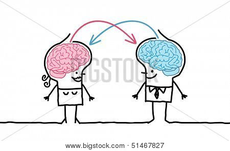 big brain couple & exchange