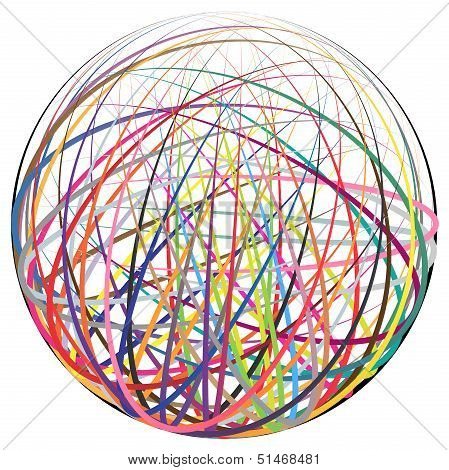 Colorful Strings Ball