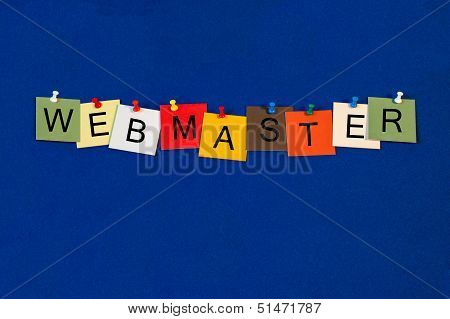 Webmaster - Business Sign
