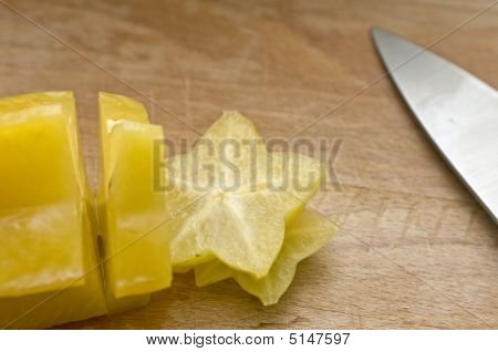 Sliced Starfruit