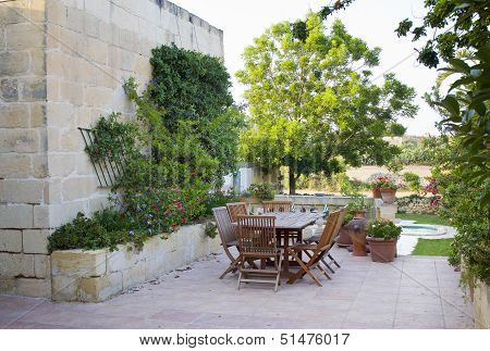 Maltese Farmhouse Garden