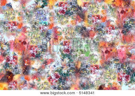 Paint Palet Rainbow Of Colors Background
