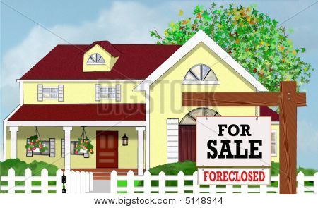 Yellow Real Estate House Forclosed Orig