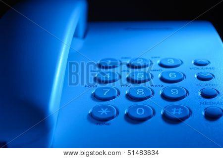 Keypad On A Landline Telephone