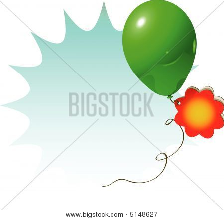 Sale Sign Green Baloon