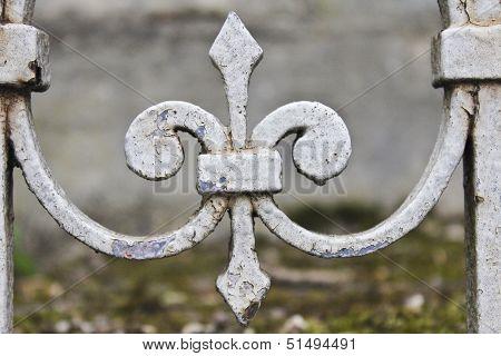 Fleur-de-Lis in French Cemetery