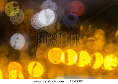 Plurality Of Distorted Color Abstraction Background Blurry Lights