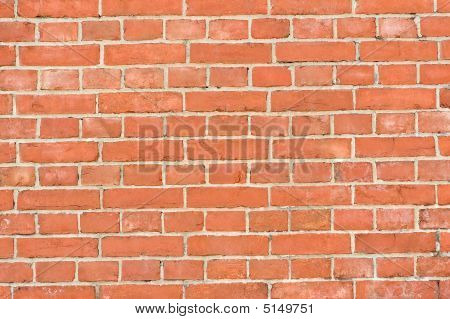 Clean Red Brick Wall