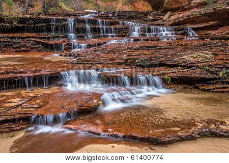 Archangel falls in Zion National Park