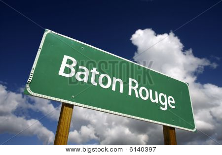 Baton Rouge Green Road Sign