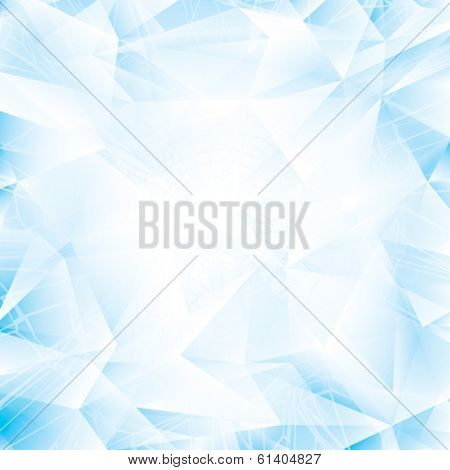 Abstract light blue glass or ice background.