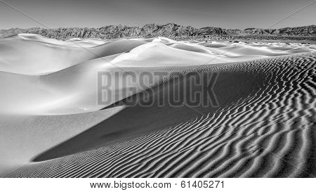 Desert Sand dunes in Black and White no2