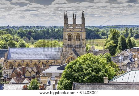 Aerial View Of Merton College, Oxford, England