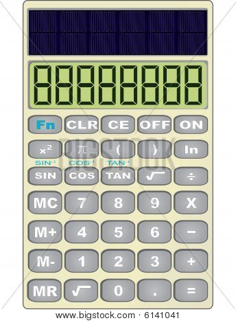 Scientific solar calculator vector illustration