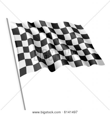 Checkered flag. Vector illustration.