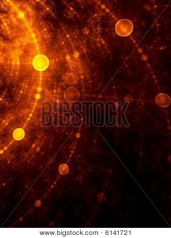 Golden Network - fractal illustration