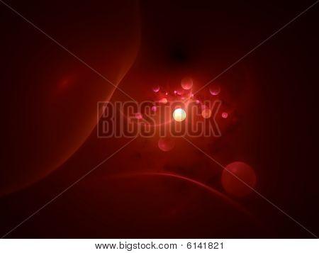 Dark Blood Cells - 3D fractal Illustration