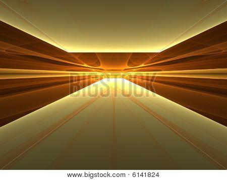 Golden Enlightenment - 3D fractal landscape