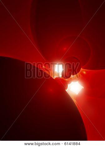 Backlit Blood Cells - CG Illustration