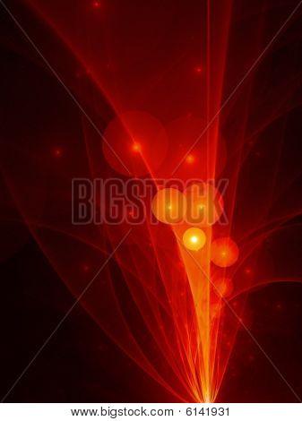 Fiery Orange Bubbles Explosion - fractal design