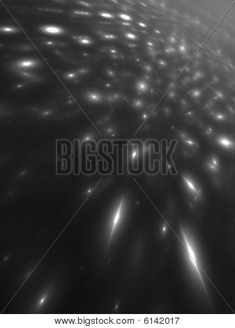 Zoom Monochrome Virtual Lights - 3D B&W fractal image