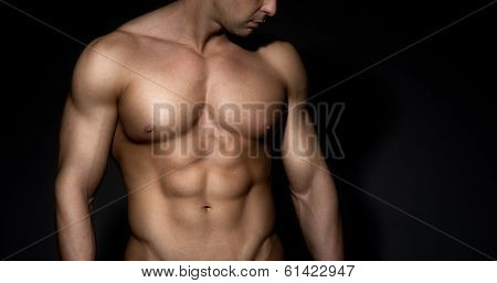 Bare Chested Muscle Man