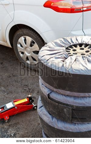Set Of Summer Car Tyres