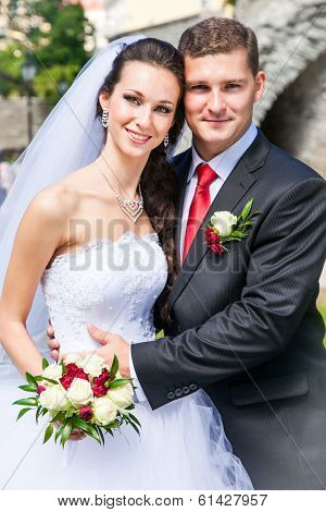 Beautiful Bride With Groom