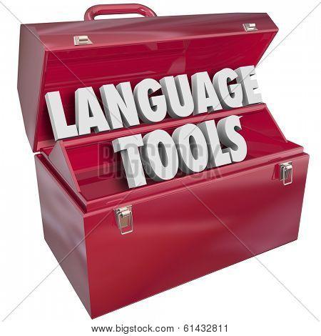 Language Tools Words Toolbox Education Skills