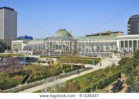Brussels, Belgium-march 14: Historical Botanique Public Garden In Center Of Brussels On March 14, 20