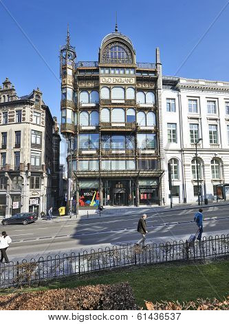 Brussels, Belgium-march 14:musee Des Instruments De Musique Belgium In Brussels On March 14, 2014.