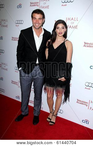 LOS ANGELES - MAR 11:  James Wolk, Amanda Setton at the Television Academy's 23rd Hall Of Fame Induction Gala at Beverly Wilshire Hotel on March 11, 2014 in Beverly Hills, CA