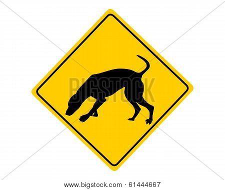 Dog At Work Warning Sign
