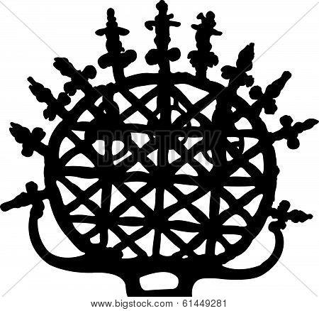 symbol of Hittite,silhouette vector