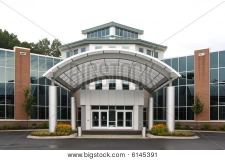 Modern Office Or Medical Building Exterior