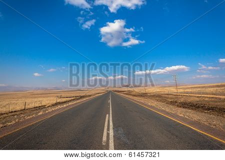 Long Road Flat Landscape Mountains Color Contrasts