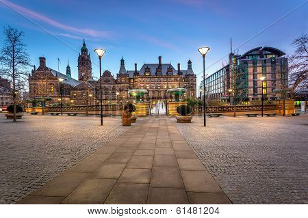 Sheffield Town Hall Panoramic View