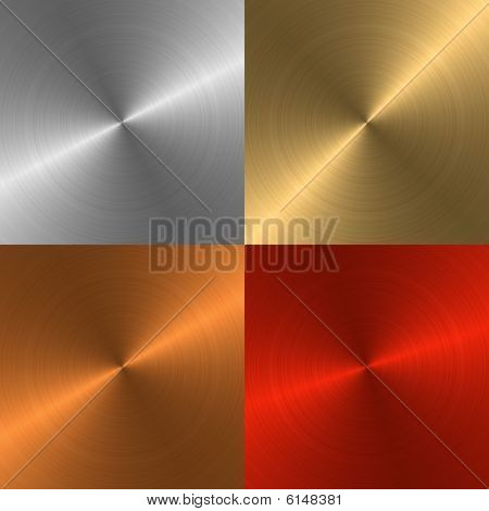 Four Metal Backgrounds