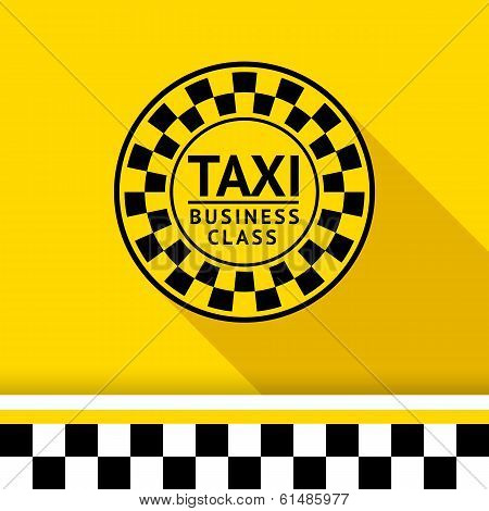 Taxi badge with shadow