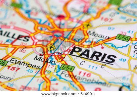 Road Map Around Paris