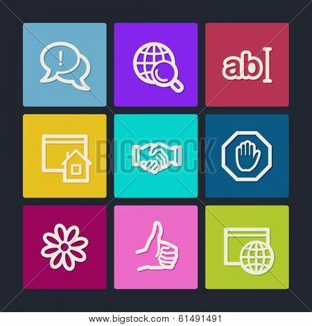 Internet web icons set 1, color buttons