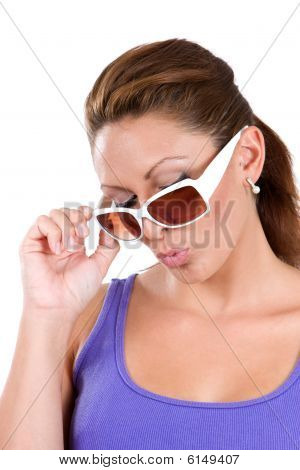 Woman Acting Cool