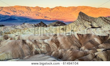 Sunrise in Death Valley Zabriskie Point