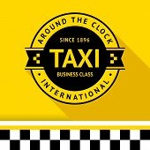 Taxi badge with shadow, vector illustration 10eps poster