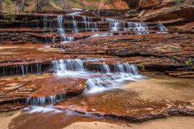 Archangel falls in Zion National Park