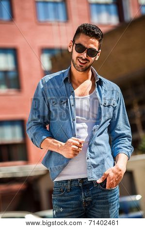Handsome Cool Man Outdoor